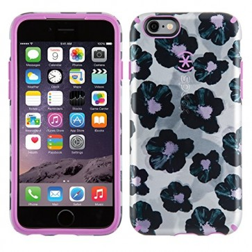 Speck Products Inked Luxury Edition Case for iPhone 6/6S - Retail Packaging- Platinum Posies/Beaming Orchid Purple