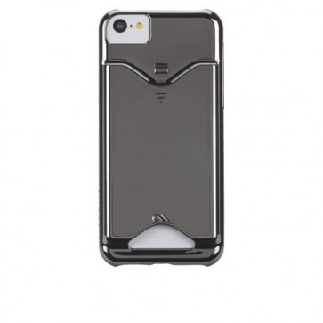 Case Mate Case-Mate iPhone 5C Barely There ID Case - Chrome - Carrying Case - Retail Packaging - Slate