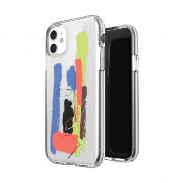 Speck iPhone 11 PRESIDIO CLEAR + PRINT (PAINTSPLATTER BLUE/CLEAR)