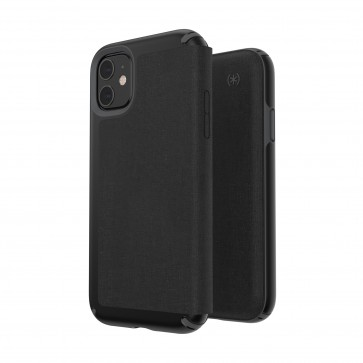 Speck iPhone 11 PRESIDIO FOLIO (HEATHERED BLACK/BLACK/SLATE GREY)