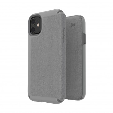 Speck iPhone 11 PRESIDIO FOLIO (HEATHERED CHELSEA GREY/CHELSEA GREY/GRAPHITE GREY)