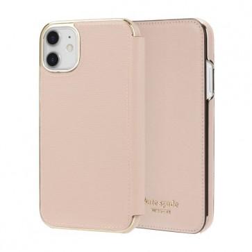 kate spade new york Folio Case for iPhone 11 - Pale Vellum PVC/Gold Logo