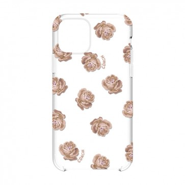 Coach Protective Case for iPhone 11 Pro - Dreamy Peony Clear/Pink/Glitter
