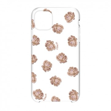 Coach Protective Case for iPhone 11 Pro Max - Dreamy Peony Clear/Pink/Glitter