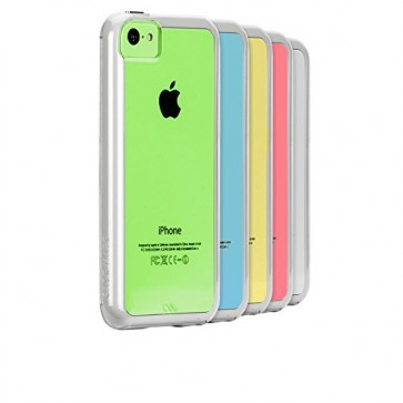 Case-Mate Naked Tough Case for Apple iPhone 5C - Retail Packaging - Clear with White Bumper