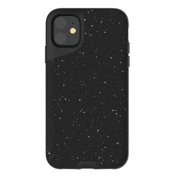 Mous iPhone 11 Contour Case Speckled Black Leather