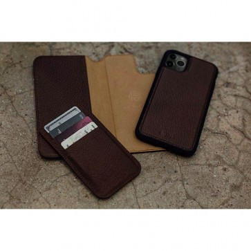 HEX 4-in-1 Leather Case for iPhone 11 PRO MAX BROWN