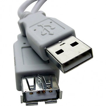 """Professional Cable Gray - USB Extension, Male to Female """"A"""" to """"A"""" receptacle, 6 feet"""