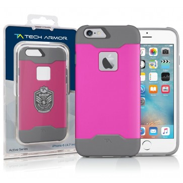 Active Sport Series ULTIMATE PROTECTION Hybrid Case, Co-Molded Polycarbonate/TPU Pink/Light Grey fits the iPhone 6/6s