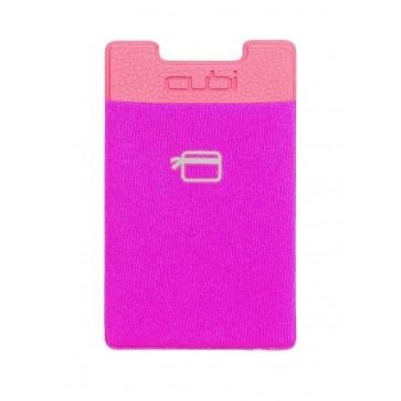 CardNinja Ultra-slim Self Adhesive Credit Card Wallet for Smartphones, Magenta
