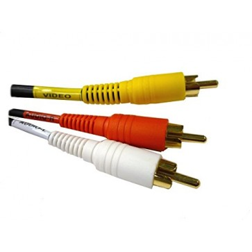 Professional Cable Composite Stereo Left & Right + Video 3 RCA, red, white, & yellow - 6 ft