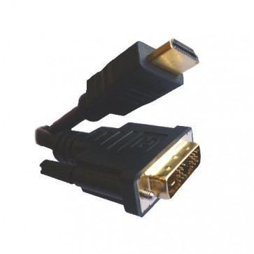 Professional Cable HDMI Male to DVI Male 6-ft Cable - Data Cable - Retail Packaging - Black