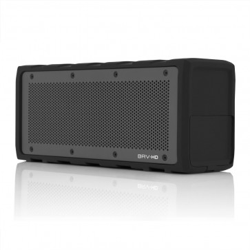 Braven BRV-HD Portable Wireless Speaker. Black Silicone wrap with Gray grill. 8800mA battery