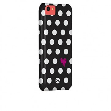 Case-Mate Barely There Print Case for iPhone 5C - Retail Packaging - Polka Love
