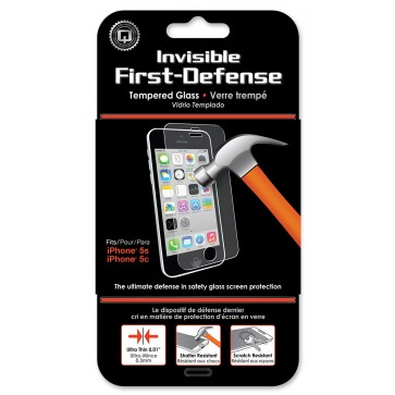 Qmadix Invisible First-Defense+ Tempered Glass iPhone SE, 5s, 5c, 5