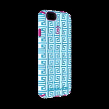 Speck iPhone 6 Plus/6s Plus Candyshell Inked Johnathan Adler AquaGreekKey/Lipstick Matte