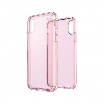 Speck iPhone X/Xs PRESIDIO CLEAR + GLITTER BELLA PINK WITH GOLD GLITTER/BELLA PINK