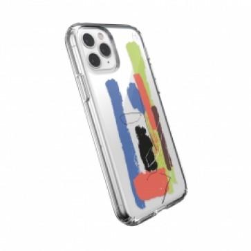 Speck iPhone 11 Pro Max PRESIDIO CLEAR + PRINT (PAINTSPLATTER BLUE/CLEAR)