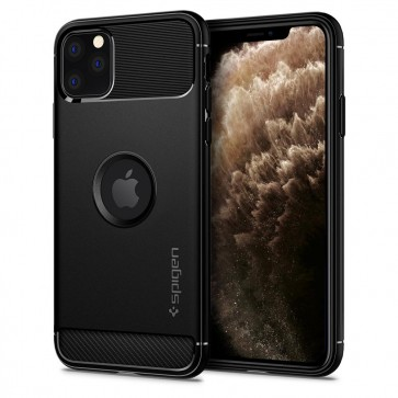 Spigen iPhone 11 Pro Max Rugged Armor Case Matte Black