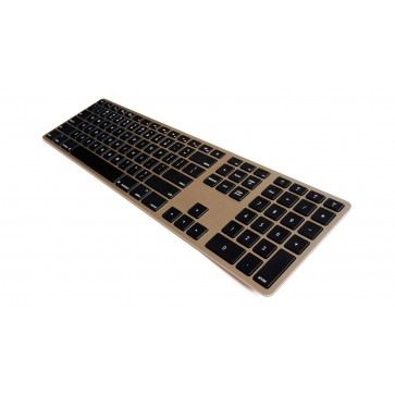 Matias Wireless Aluminum Keyboard - Gold