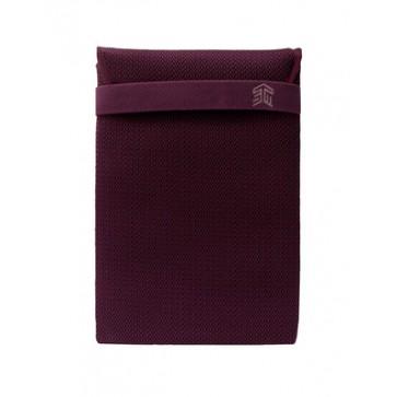 "STM knit glove sleeve (13"") - plum"