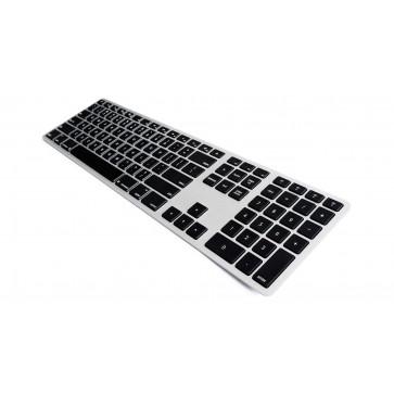 Matias Backlit Wireless Aluminum Keyboard – Silver/Black
