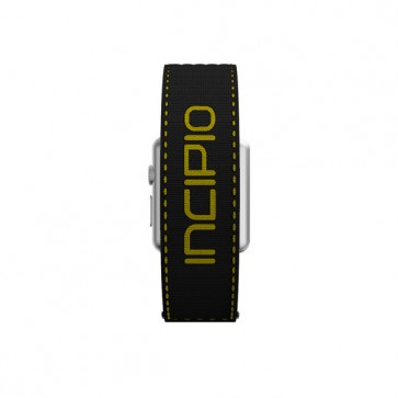 Incipio Stitch Jacquard Band Watch Band for Apple Watch 38mm - Black/Yellow Stitching