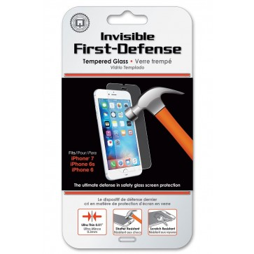 Qmadix Invisible First-Defense Tempered Glass Screen Protector iPhone 8, 7, 6s/6
