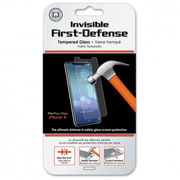 Qmadix Invisible First-Defense Tempered Glass Screen Protector iPhone X