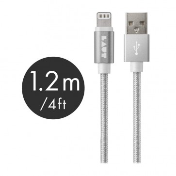 Laut LINK MFI Certified USB to Lightning Cable 120cm Silver