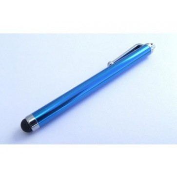 Professional Cable Ocean BLUE SnowFire Stylus Pen with rubber soft tip - silver pocket clip