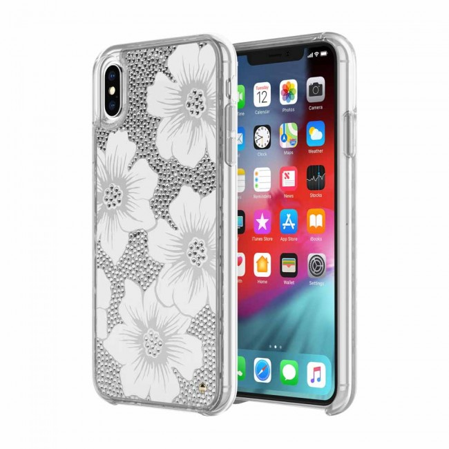 the latest c443e 742cb kate spade new york Full Clear Crystal Case for iPhone Xs Max - Hollyhock