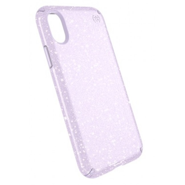 huge discount ec7b1 fe54c Speck iPhone X Presidio Clear + Glitter - Geode Purple With Gold  Glitter/Geode Purple