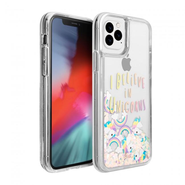 1pc. Liquid Glitter Unicorn Iphone Case