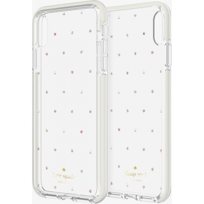huge discount 5d405 018cc kate spade new york Defensive Hardshell Case (1-PC Comold) for iPhone X/Xs  - Pin Dot Gems/Pearls/Clear