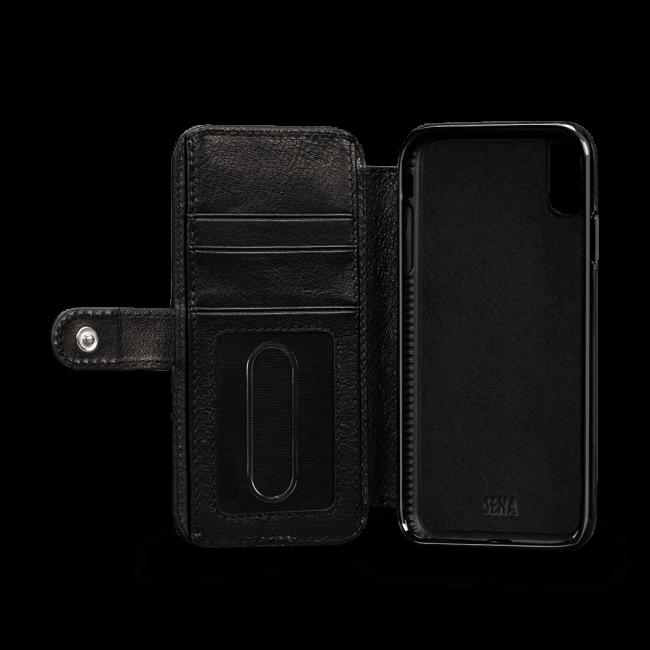 newest cd5e2 37b94 Sena iPhone Xs Max Walletbook Classic Black