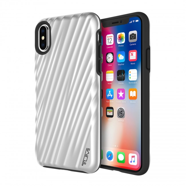 superior quality 2acc9 6452b TUMI 19 Degree Case for iPhone X - Metallic Silver
