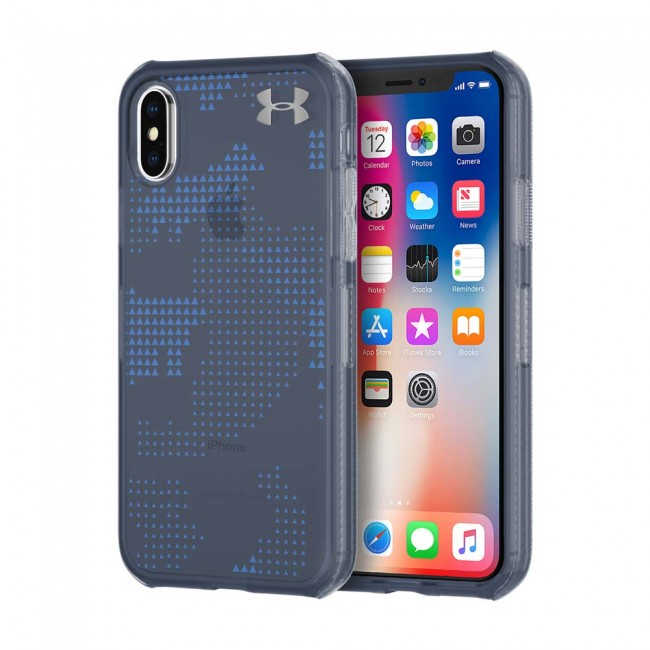buy popular 16341 95e57 Under Armour UA Protect Verge Case for iPhone X - Translucent Utility  Midnight Navy/Mediterranean