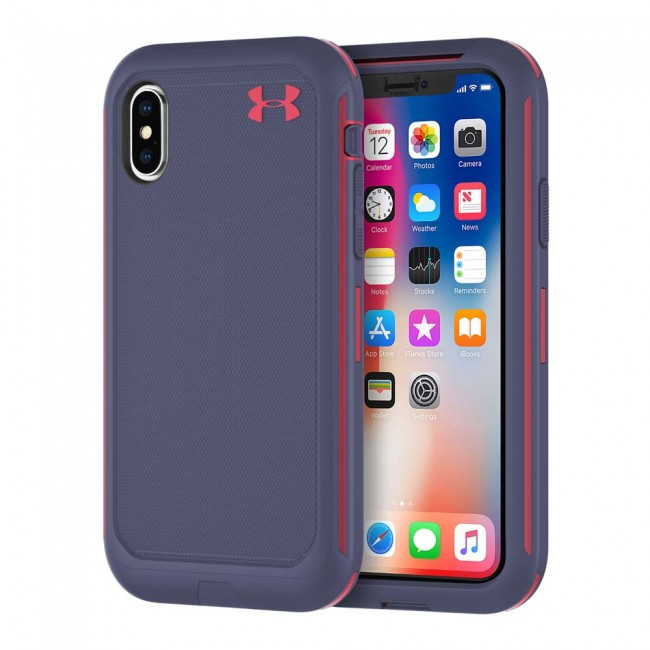 outlet store e24bc 48c3b Under Armour UA Protect Ultimate Case for iPhone X - Midnight Navy/Coral  Cove