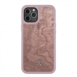Woodcessories Bumper Case iPhone 12 Pro Max Canyon Red / Real Slate Stone / Black TPU Softcase