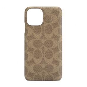 Coach Slim Wrap Case for iPhone 12 mini - Signature C Khaki