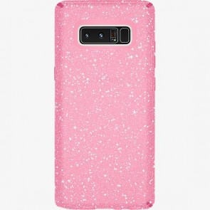 Speck Samsung Galaxy Note 8 Presidio Clear + Glitter - Bella Pink With Gold Glitter/Bella Pink