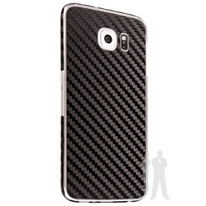 Bodyguardz Carbon Fiber armor Back Skin (Black) for Samsung Galaxy S6 Edge