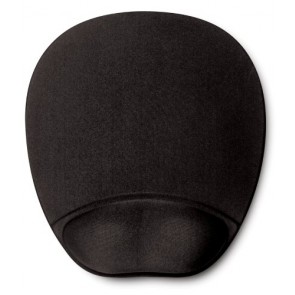 HandStands Memory Foam Mouse Mat w/ Wrist Rest Black