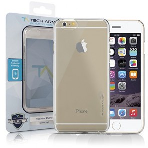Tech Armor iPhone 6 Plus Case, Tech Armor iPhone 6 Plus Case, 5.5 inch - SlimProtect Air Clear Snap-on Hard Case Thin Fit Perfect Fit Scratch Resistant Lifetime Warranty