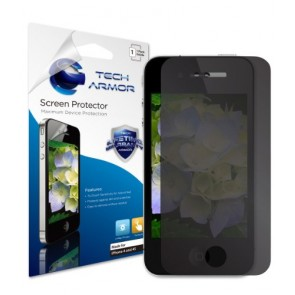 Tech Armor Apple iPhone 4 and 4S Ultimate 4-Way, Premium 360 Degree Privacy Screen Protector with Lifetime Replacement Warranty [1-Pack] - Retail Packaging