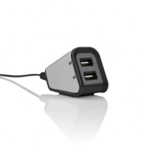Incipio Dual USB Desktop Charger - Retail Packaging - Silver