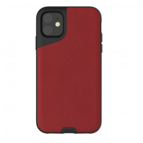 Mous iPhone 11 Contour Case Red Leather