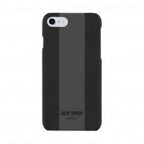 JACK SPADE 1-PC Snap Case for iPhone 7 - Racing Stripe Black Barrow with Magnet