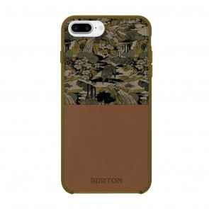 Burton Translucent Color-Block Case for iPhone 7 Plus & iPhone 6/6s Plus - Pacifist Camo Fir/Brown Leather